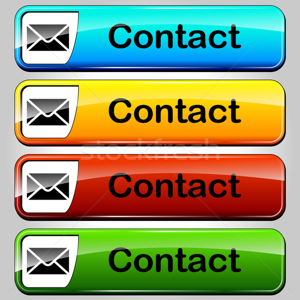 Vector contact buttons Stock photo © nickylarson974