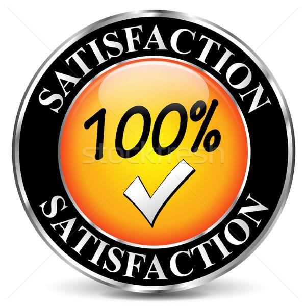 Vector satisfaction icon Stock photo © nickylarson974