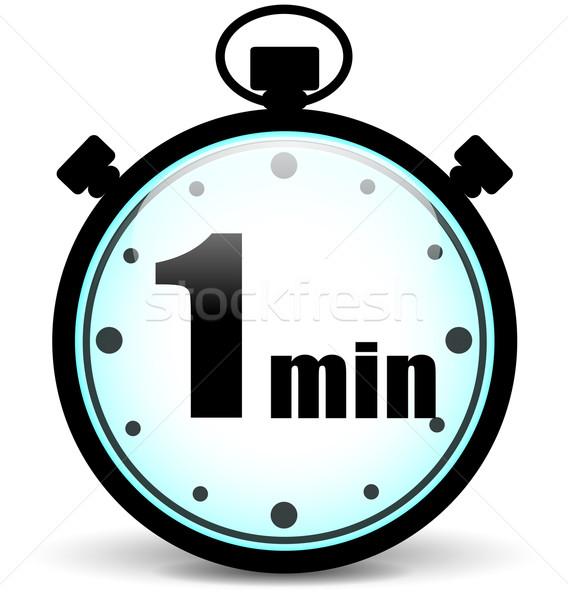 Vector uno minuto cronógrafo signo reloj Foto stock © nickylarson974