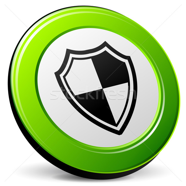 shield 3d icon Stock photo © nickylarson974