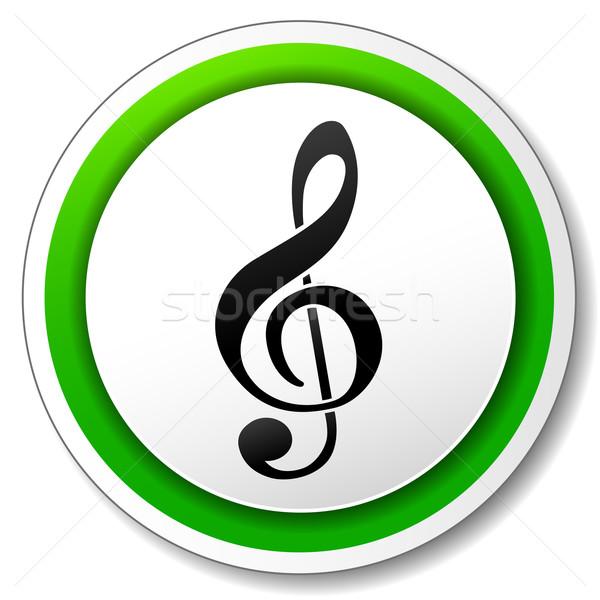 Zene ikon illusztráció zöld gyűrű művészet Stock fotó © nickylarson974