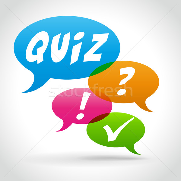 quiz speech bubbles  Stock photo © nickylarson974