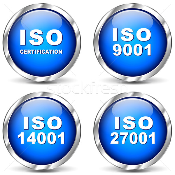 Iso certification icons Stock photo © nickylarson974