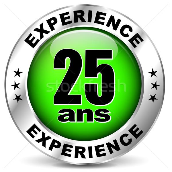 Zwanzig fünf Jahre Erfahrung Symbol weiß Stock foto © nickylarson974