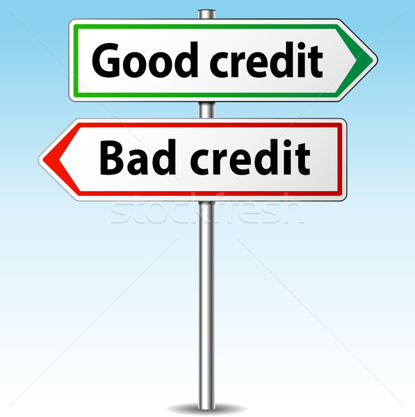 Vector good and bad credit direction concept Stock photo © nickylarson974