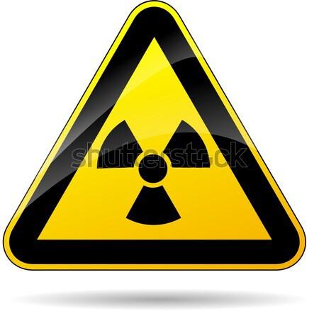 Radyoaktivite sarı imzalamak örnek üçgen enerji Stok fotoğraf © nickylarson974