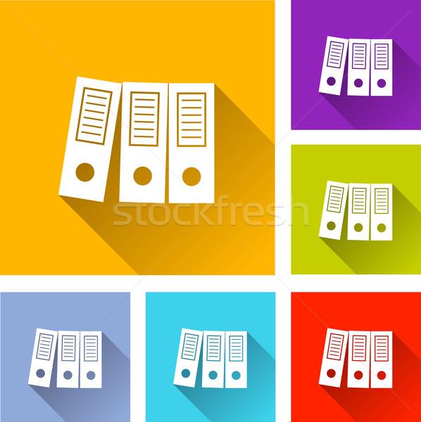 binder icons Stock photo © nickylarson974