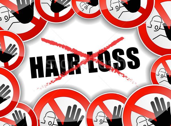 stop hair loss problems Stock photo © nickylarson974