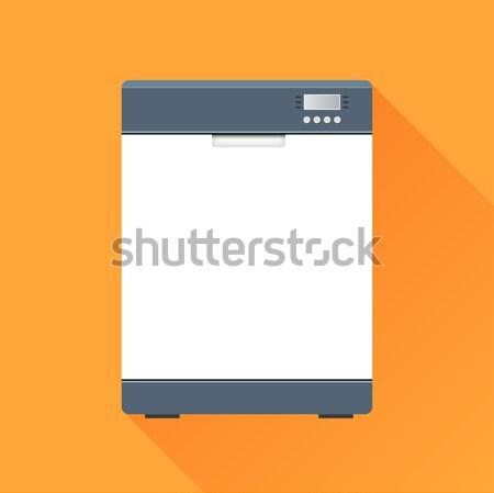 Bulaşık makinesi ikon örnek gölge su dizayn Stok fotoğraf © nickylarson974