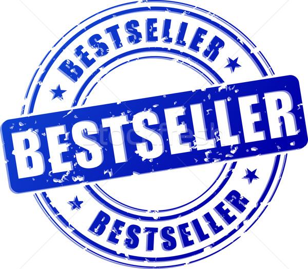 лучший продавец синий штампа иллюстрация белый Сток-фото © nickylarson974