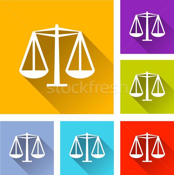 Egyenlőség ikonok illusztráció terv szett narancs Stock fotó © nickylarson974