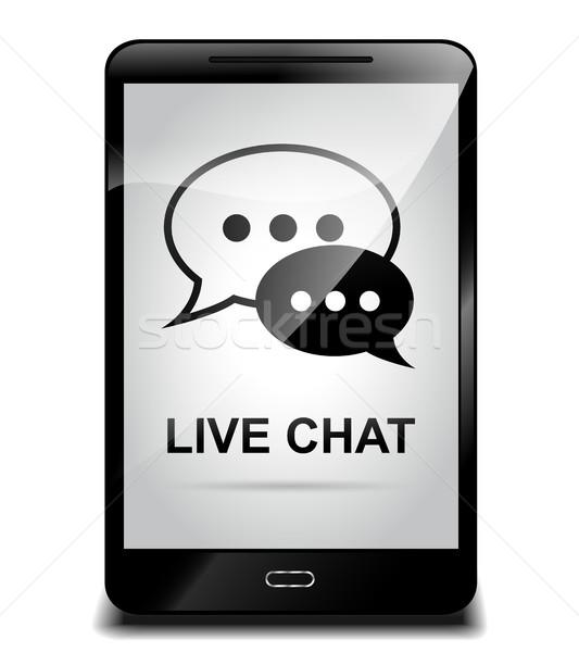 Cellulare vivere chat illustrazione telefono design Foto d'archivio © nickylarson974