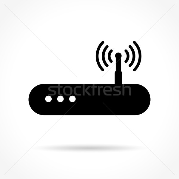 router icon on white background Stock photo © nickylarson974