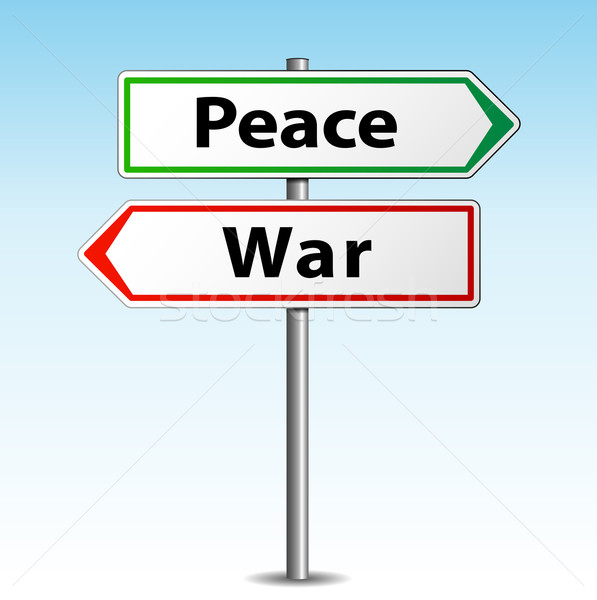 Vector peace and war signs Stock photo © nickylarson974