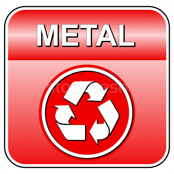 Stock photo: Vector metal recycle icon