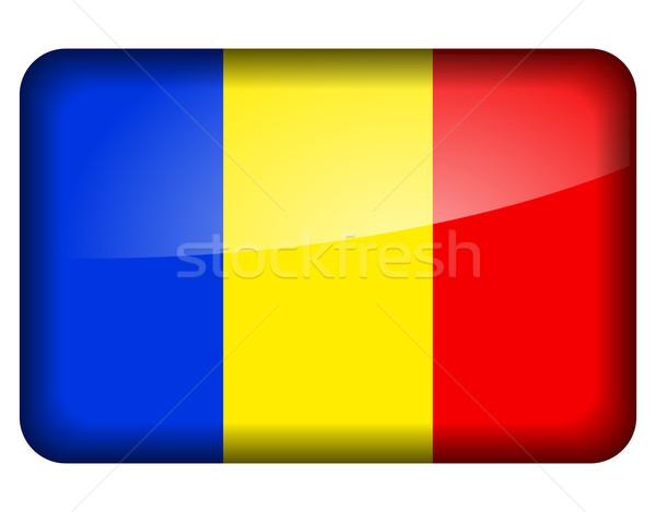 Romania bandiera icona bianco segno paese Foto d'archivio © nickylarson974