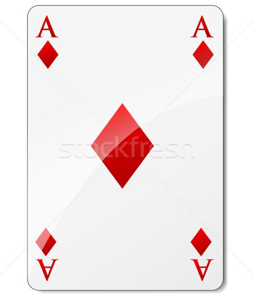 Ace diamanti bianco successo carta carte Foto d'archivio © nickylarson974