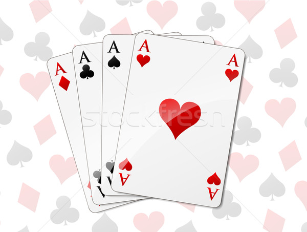 Four aces background Stock photo © nickylarson974