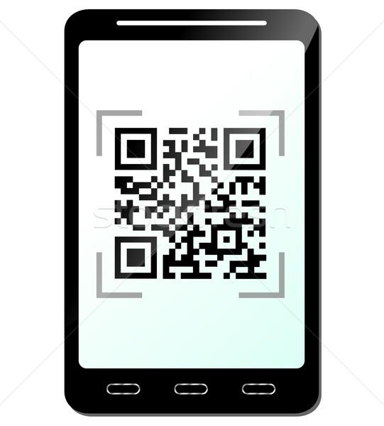 Teléfono código qr negocios teléfono comunicación información Foto stock © nickylarson974