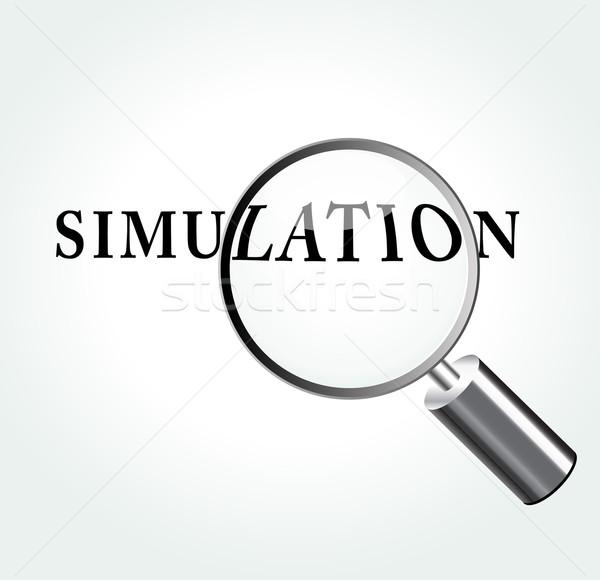 Vector simulatie illustratie abstract vergrootglas studie Stockfoto © nickylarson974
