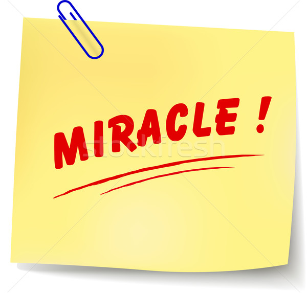 Vecteur miracle un message papier blanche design Photo stock © nickylarson974