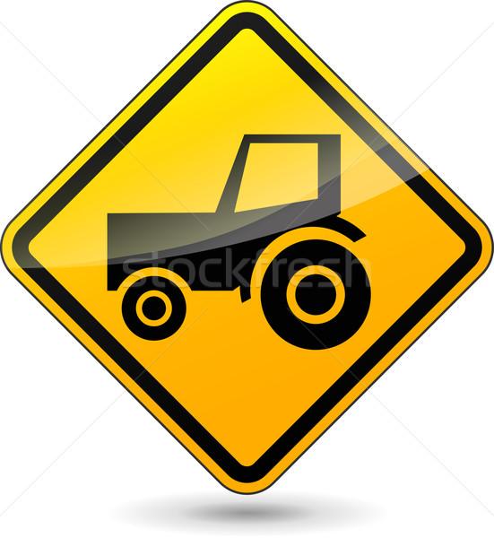 tractor sign Stock photo © nickylarson974