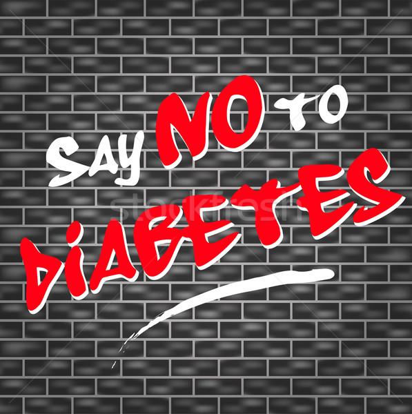 нет диабет граффити иллюстрация темно стены Сток-фото © nickylarson974