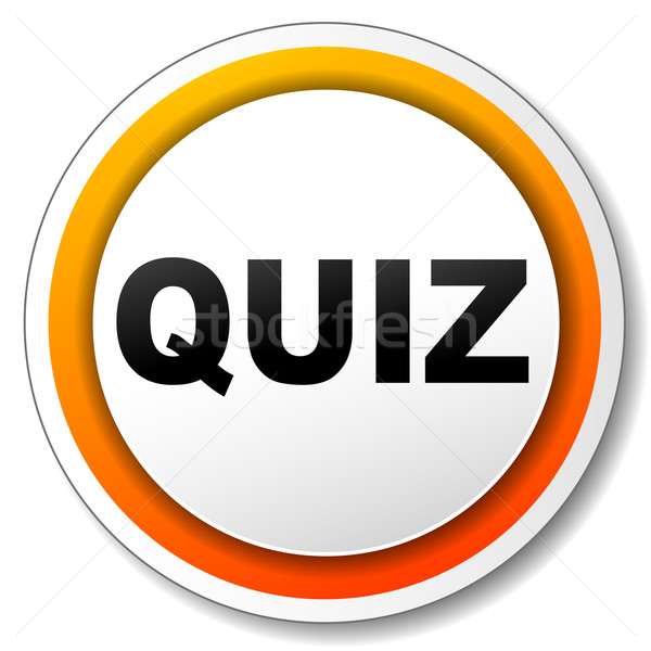 Quiz icon illustratie witte oranje ontwerp Stockfoto © nickylarson974
