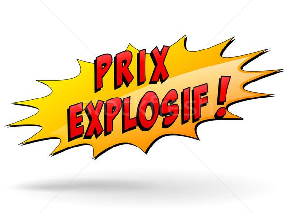 Explosief prijs star icon frans vertaling Stockfoto © nickylarson974