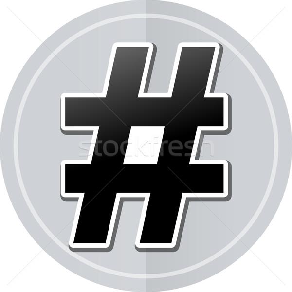 hashtag sticker icon Stock photo © nickylarson974