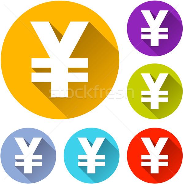 Yen icone sei colorato design segno Foto d'archivio © nickylarson974