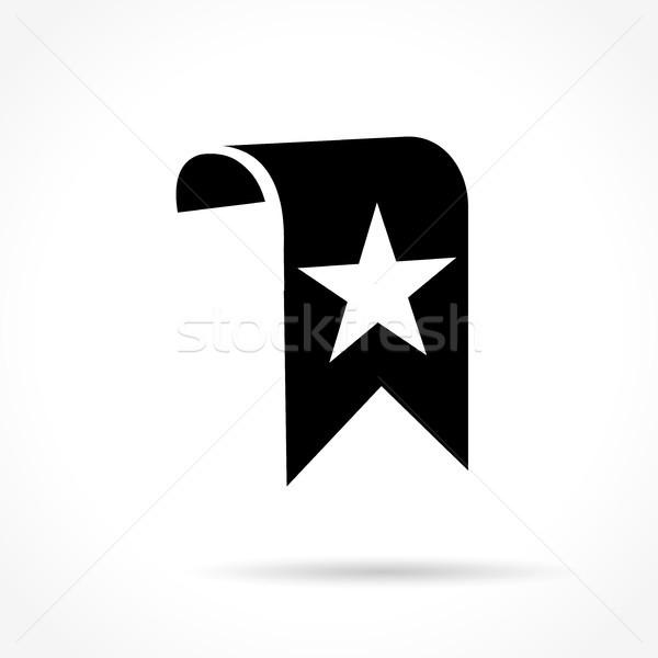 Marcar ícone branco ilustração vetor Foto stock © nickylarson974