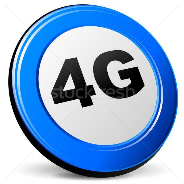 Vektor 4g ikon fehér technológia felirat Stock fotó © nickylarson974