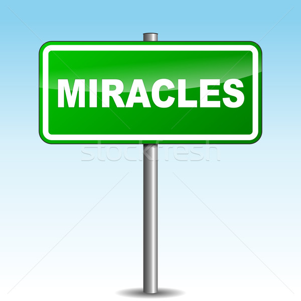 Vector miracles signpost Stock photo © nickylarson974