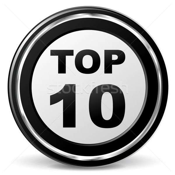 Vector top ten icon Stock photo © nickylarson974