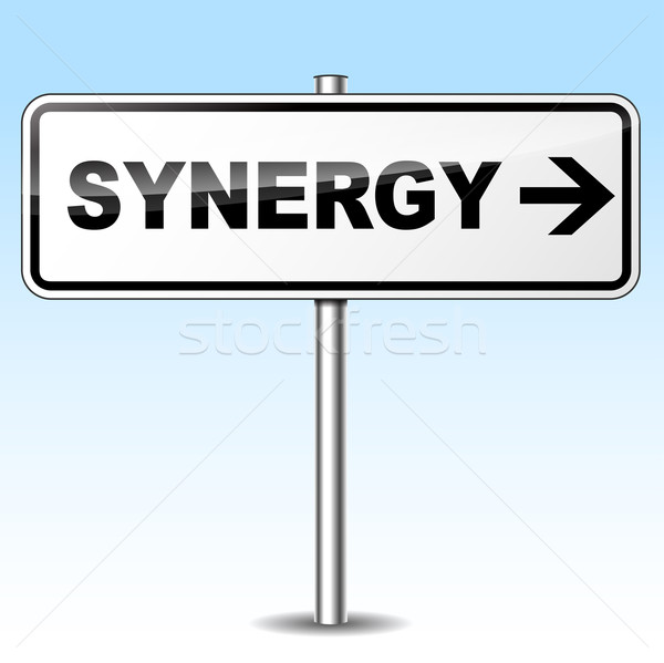 Vector synergy sign Stock photo © nickylarson974