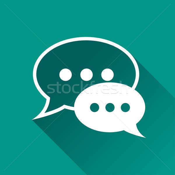 Stockfoto: Bubbels · ontwerp · icon · illustratie · chat · teken