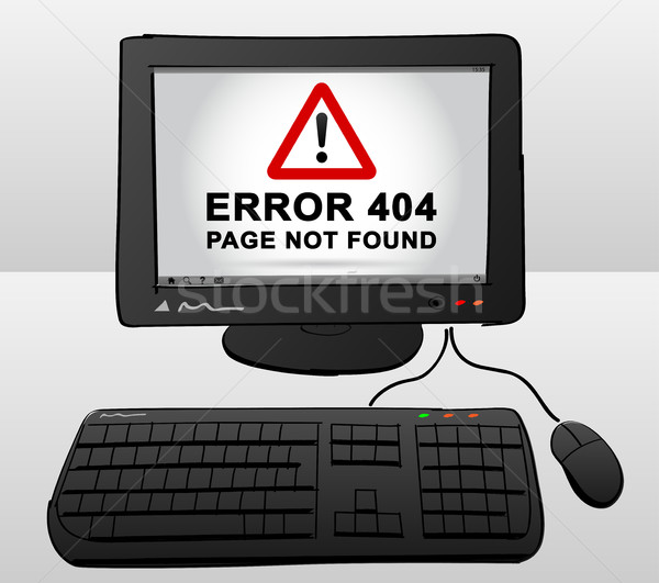computer drawing with error on screen Stock photo © nickylarson974
