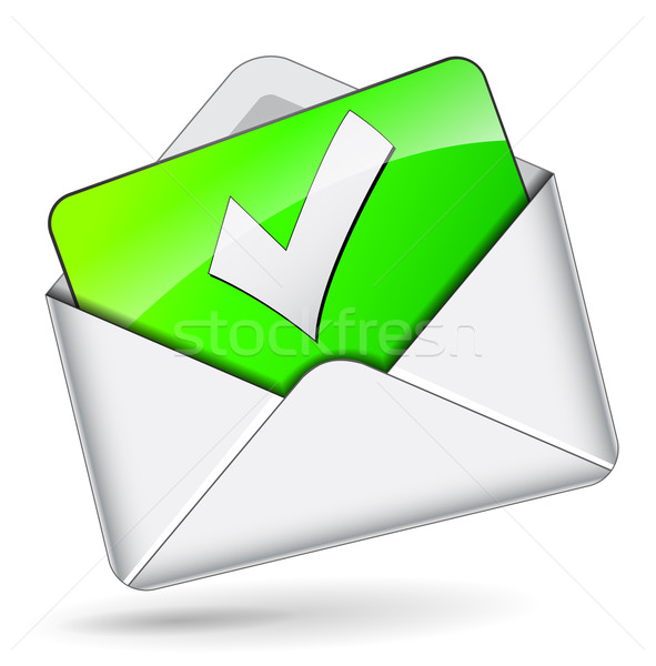 Stock photo: Vector check mail envelope