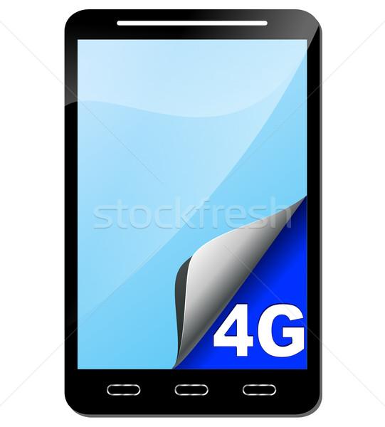 Vektor mobiltelefon 4g absztrakt internet technológia Stock fotó © nickylarson974