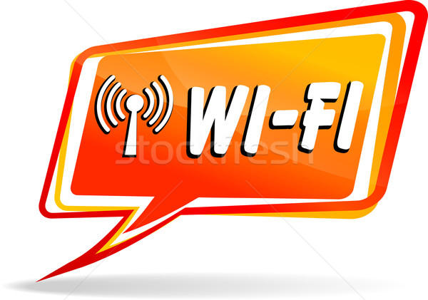 Vector wi-fi speech bubble Stock photo © nickylarson974