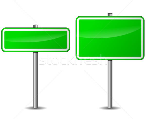 Vektör yeşil tabelasını beyaz yol sokak Stok fotoğraf © nickylarson974
