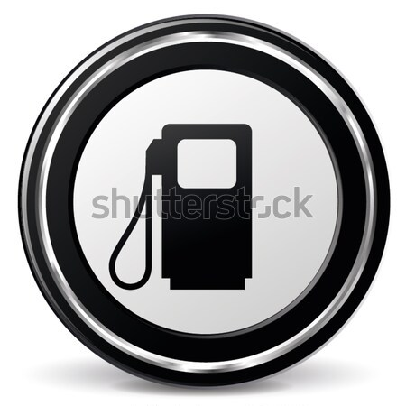 Vetor combustível ícone preto azul projeto Foto stock © nickylarson974