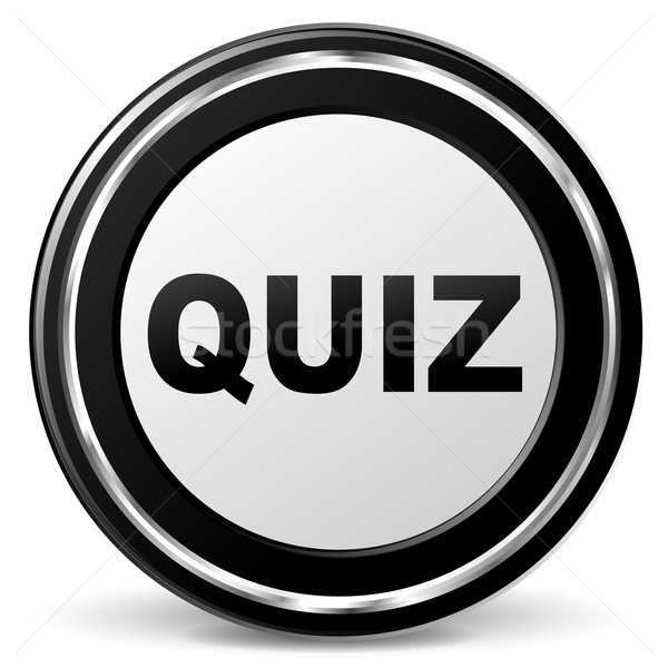 Quiz chroom icon illustratie zwarte teken Stockfoto © nickylarson974