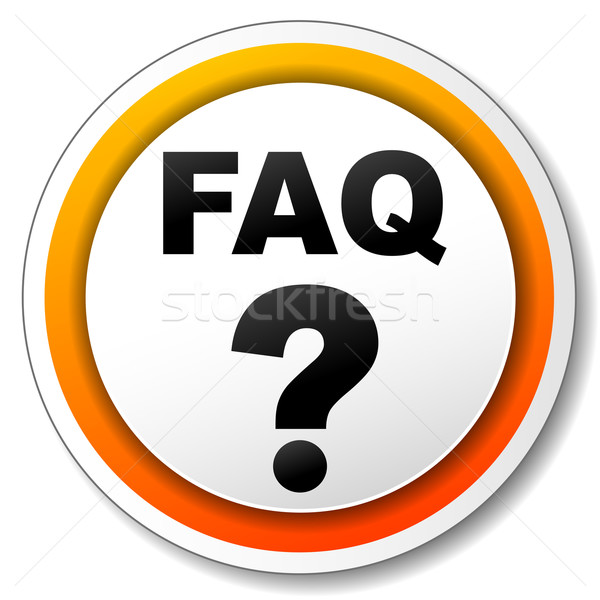 Faq icon illustratie witte oranje ontwerp Stockfoto © nickylarson974