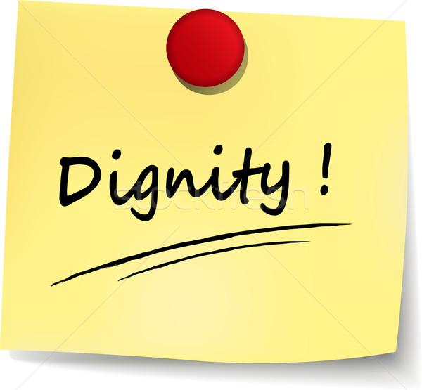 Dignidade nota ilustração branco papel fundo Foto stock © nickylarson974