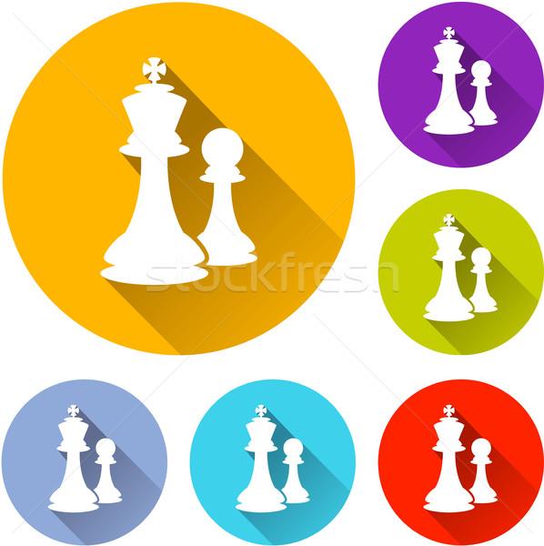 six chess icons Stock photo © nickylarson974