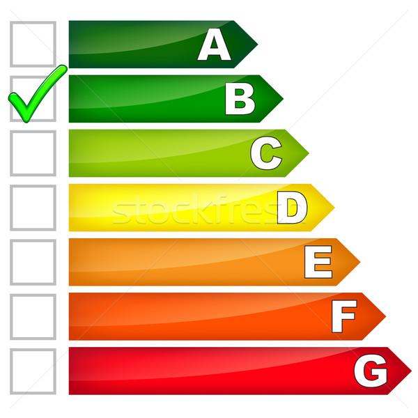 Energie Verbrauch Zeichen weiß home grünen Stock foto © nickylarson974