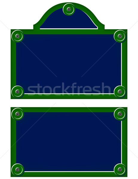Párizsi tányérok zöld kék utazás építészet Stock fotó © nickylarson974