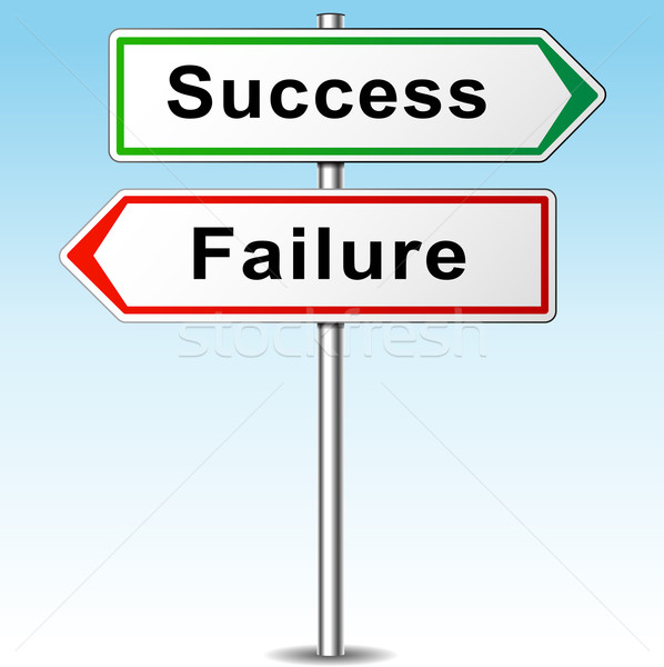 Vector success and failure signs Stock photo © nickylarson974